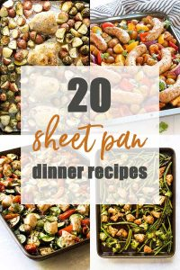 sheet pan dinners photo collage
