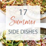 summer side dishes photo collage