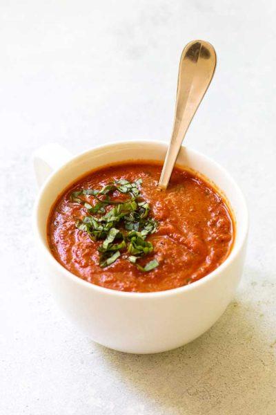 10-Minute Tomato Basil Soup