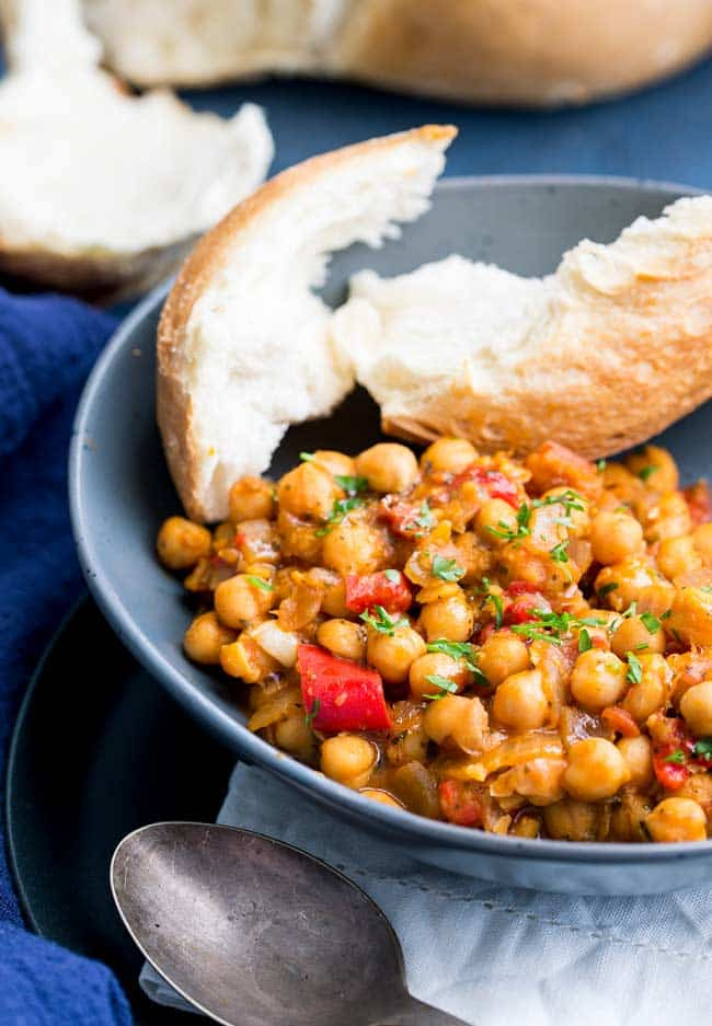 Italian-inspired tomato and chickpea stew