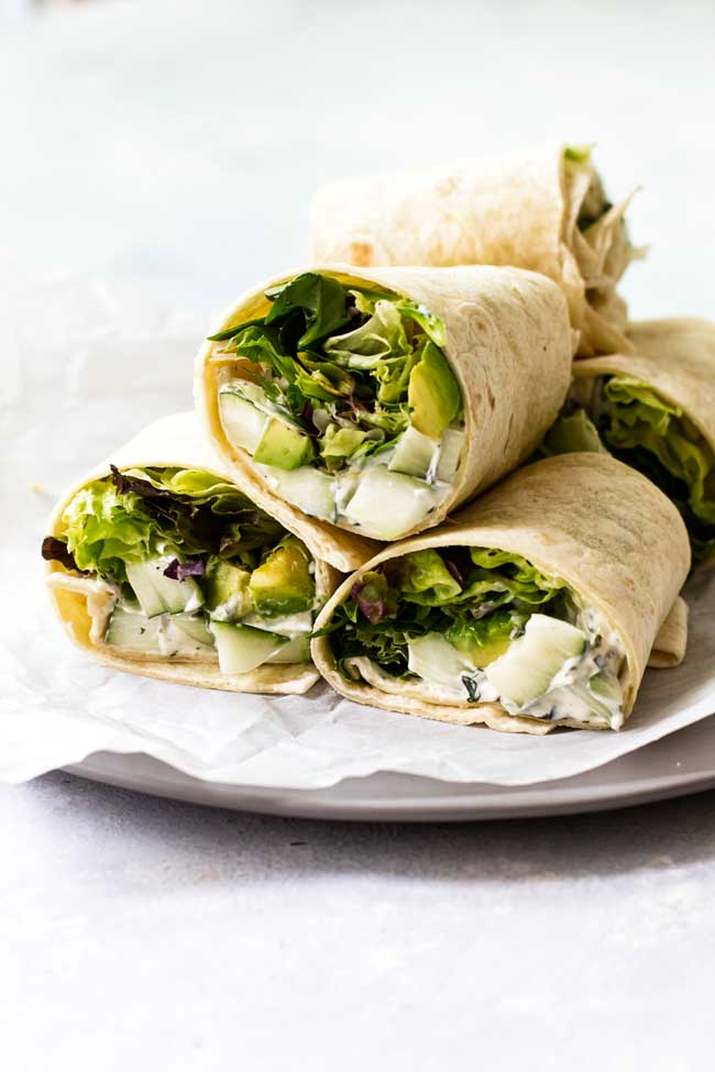 cucumber avocado wraps