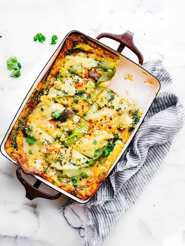 hatch green chile egg casserole