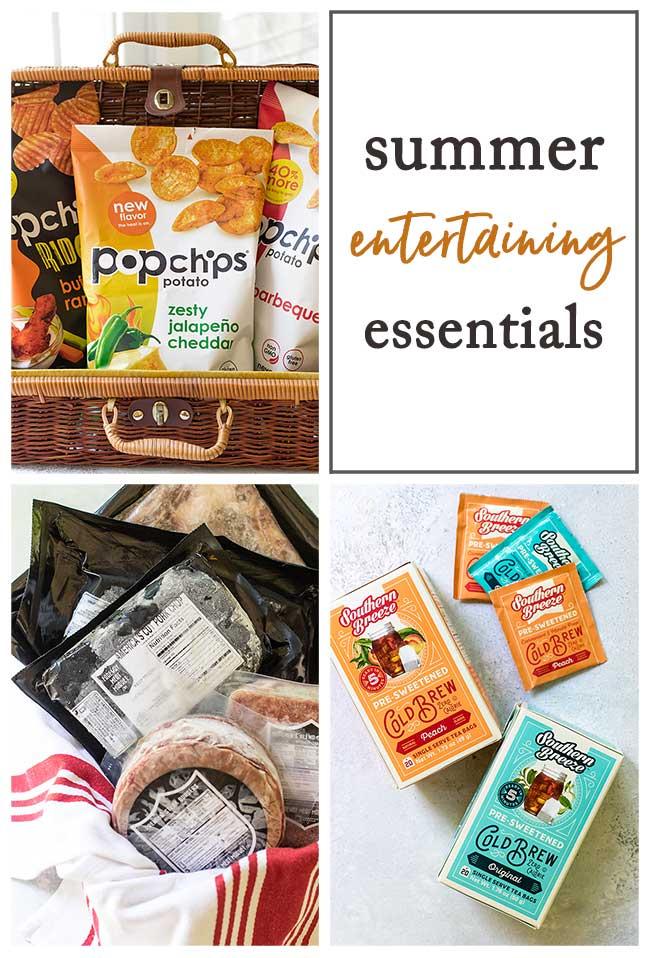 summer entertaining essentials collage