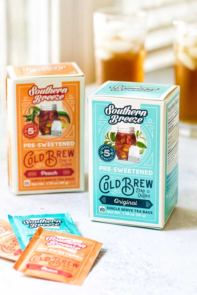 two boxes of southern breeze sweetened iced tea