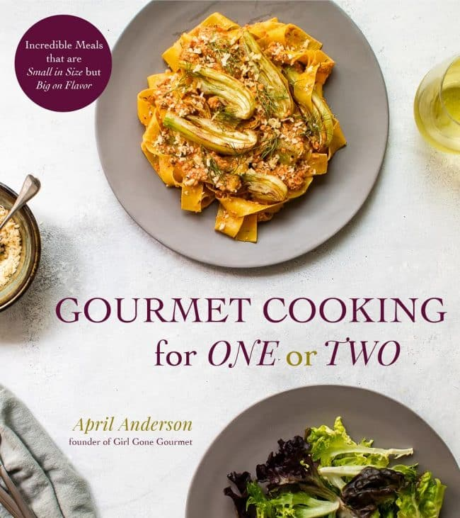 photo of the cover of Gourmet Cooking for One or Two