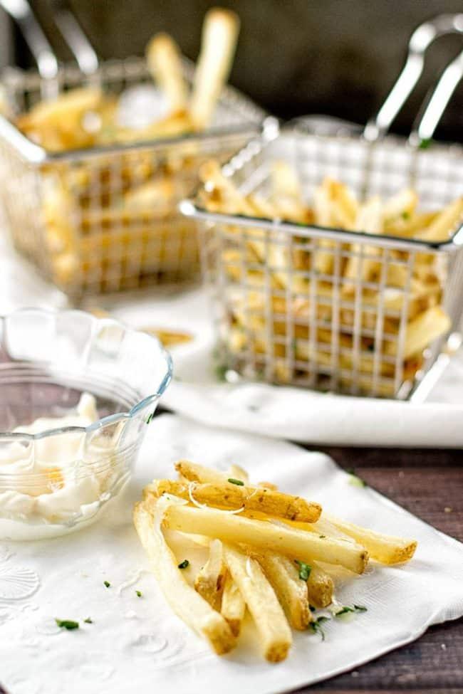 garlic parmesan fries