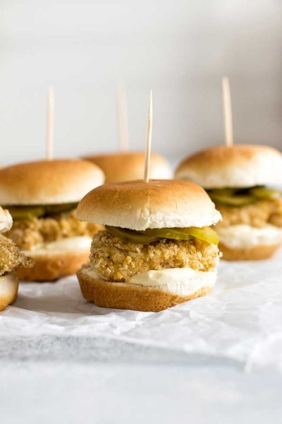 photo of chicken sliders