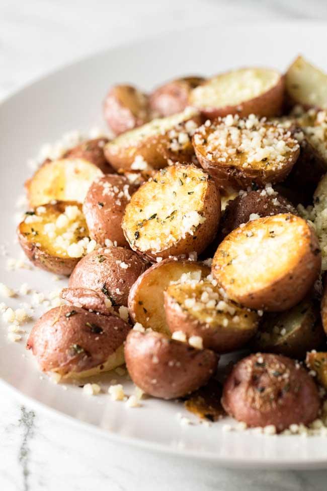 photo of roasted parmesan potatoes