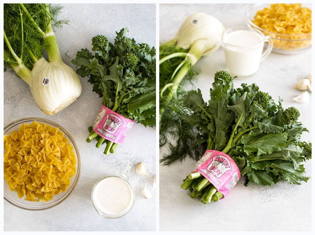 Photo collage of ingredients for the recipe