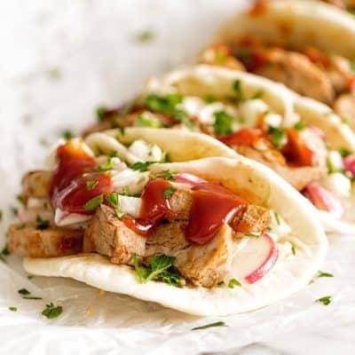 BBQ Pork Tenderloin Tacos