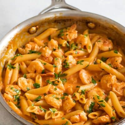 Shrimp Penne with Vodka Sauce