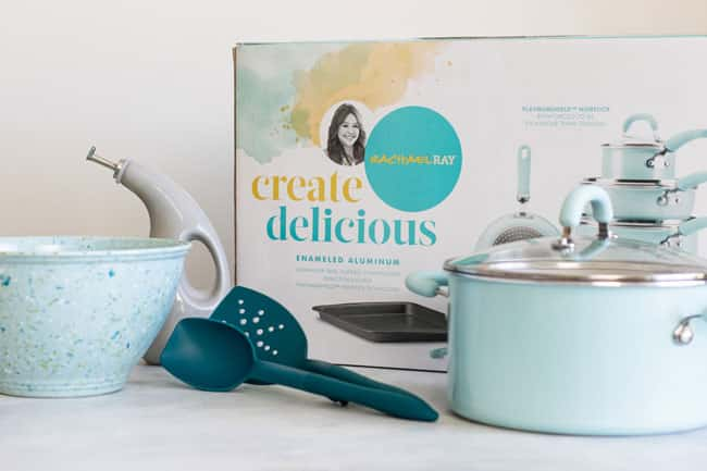 photo of a box of Rachel Ray Create Delicious cookware