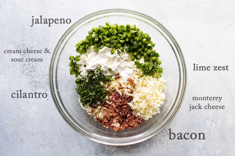 photo of the ingredients for the dip in a bowl