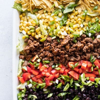 photo of a taco salad