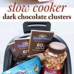 dark chocolate clusters photo collage