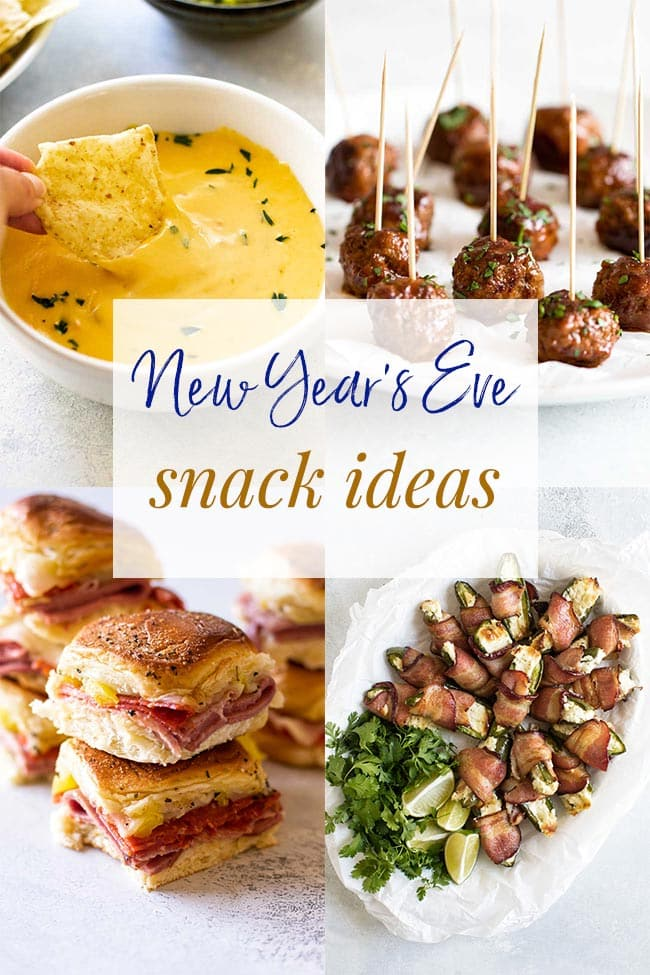 new year's eve snack ideas photo collage
