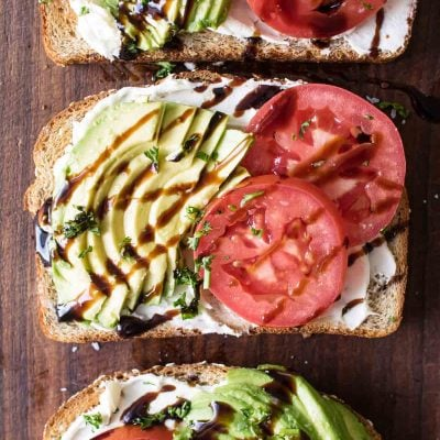 Balsamic-Tomato Avocado Toast