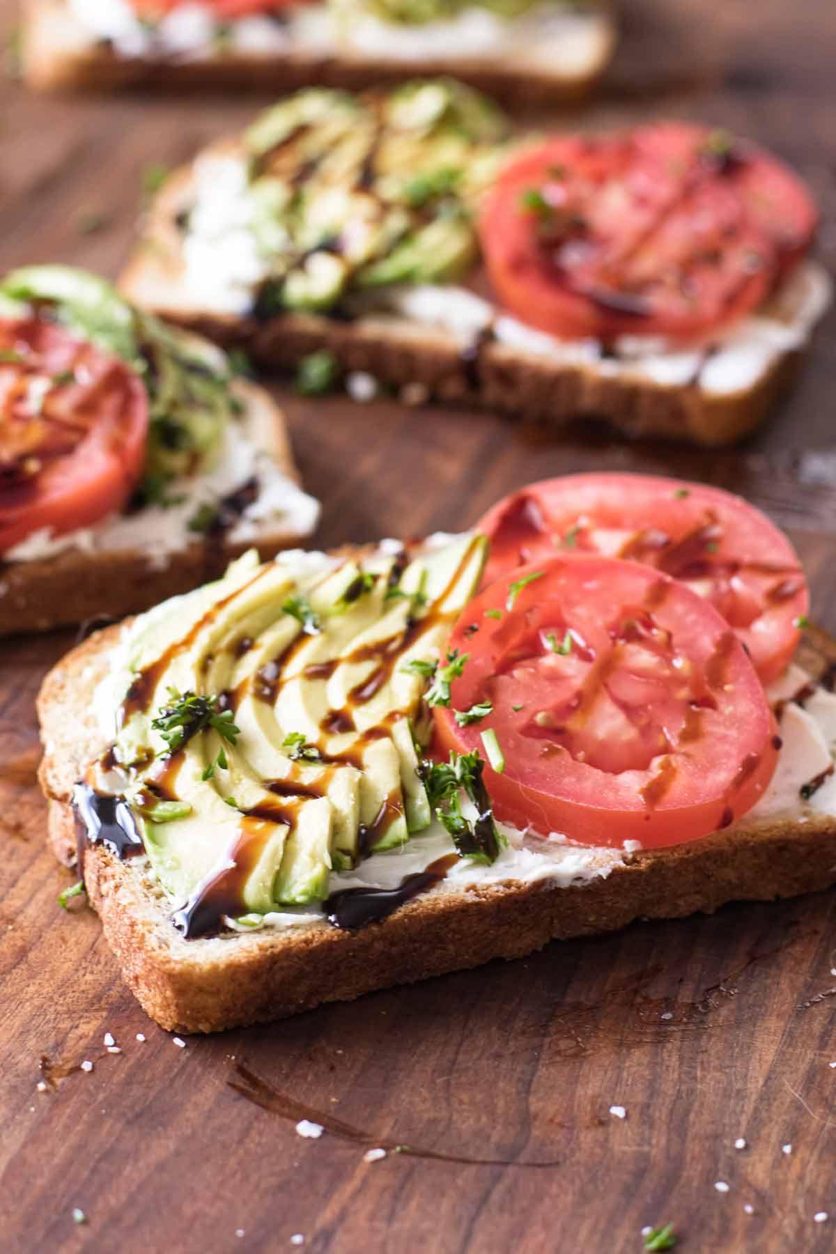close up photo of avocado toast