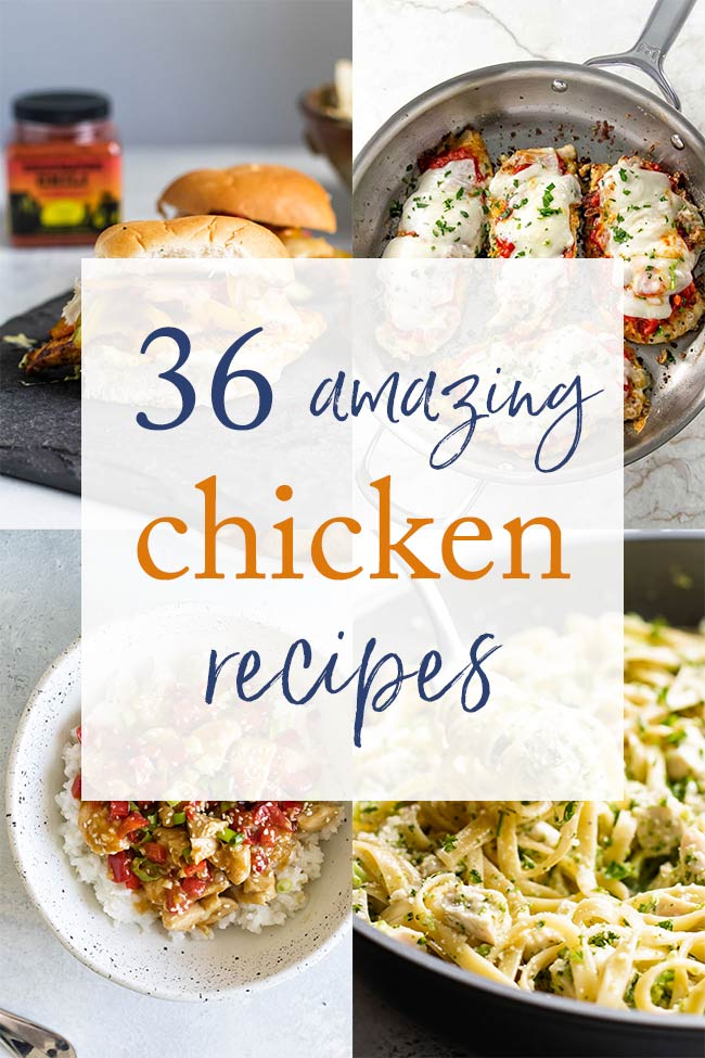 photo collage of chicken recipes
