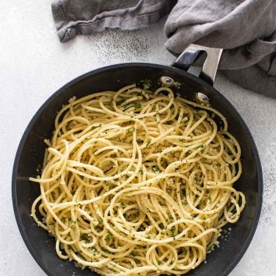 Dinner for One: Easy Pasta with Olive Oil & Garlic