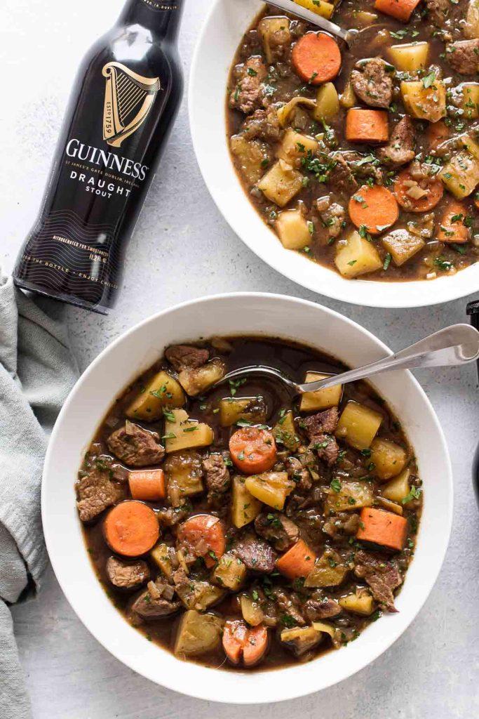 photo of two bowls of Irish stew