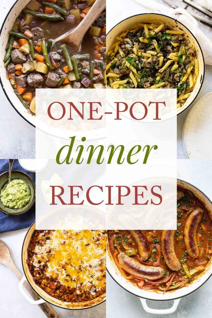 one pot dinner recipes collage