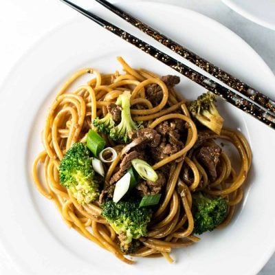 30-Minute Ginger Beef Noodles