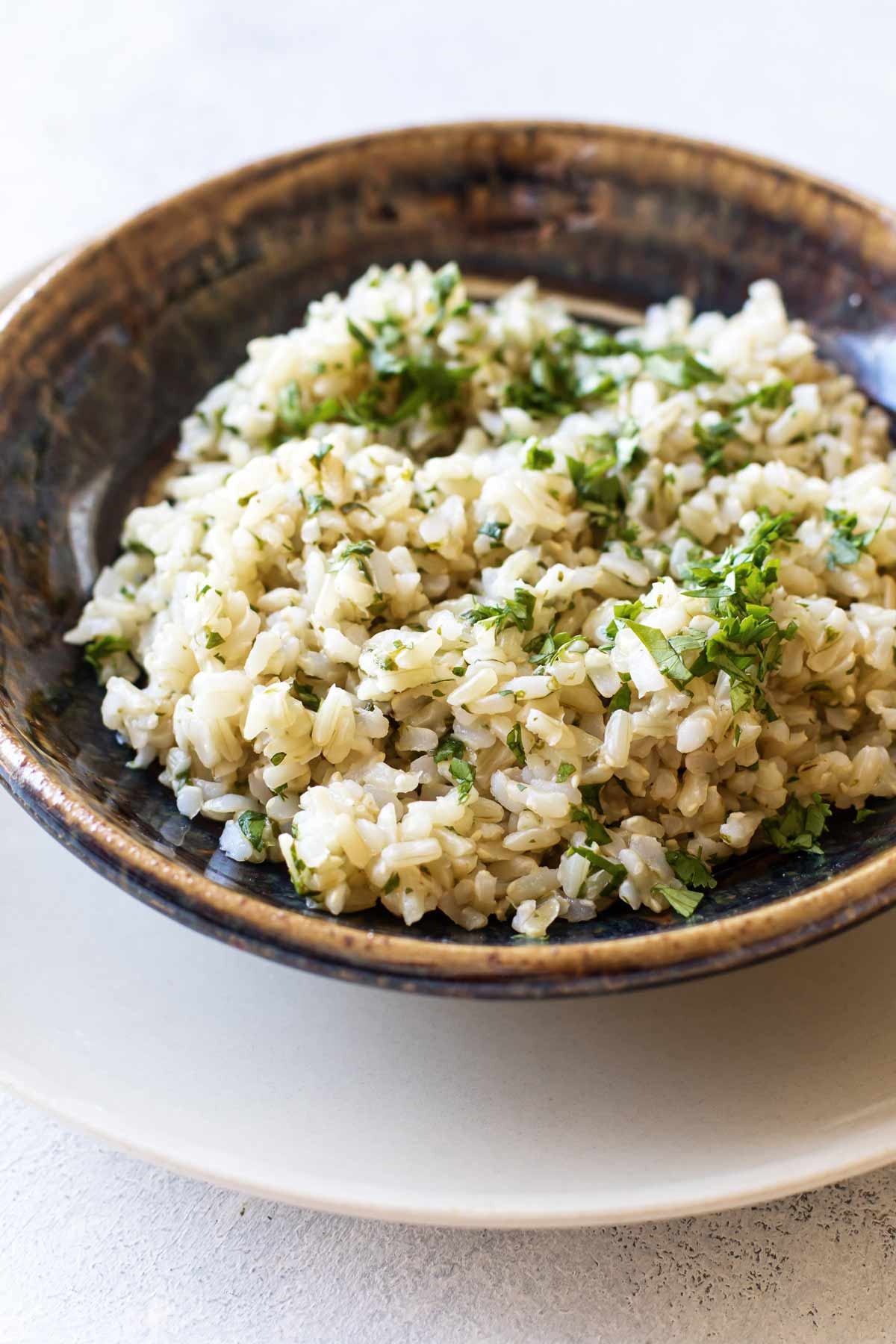 photo of a bowl of cilantro-lime rice