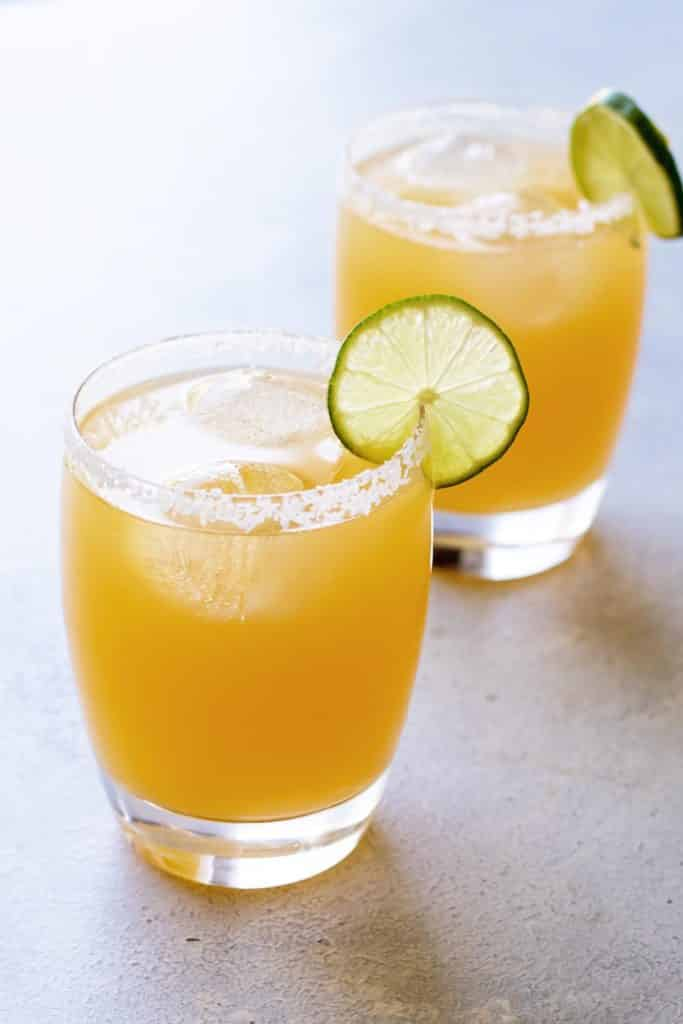 photo of a two citrus margaritas