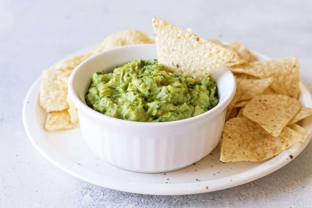 bowl of guacamole dip