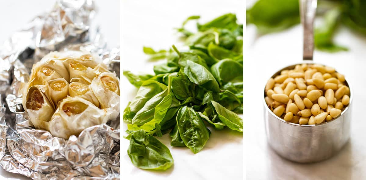photo collage of the ingredients