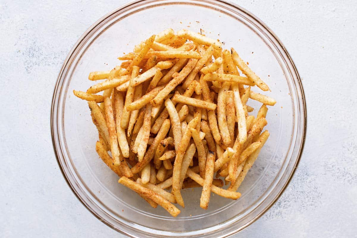 photo of the frozen fries in a bowl