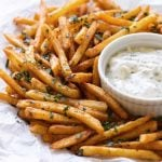 photo of fries on a plate