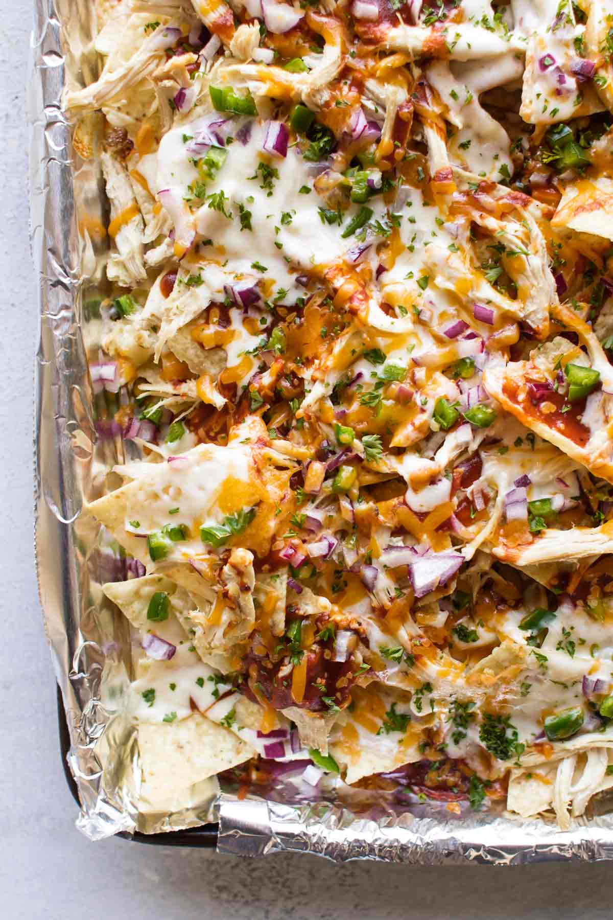 close-up photo of nachos
