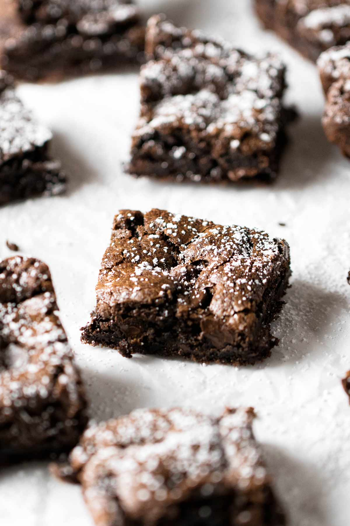 close-up photo of a brownies