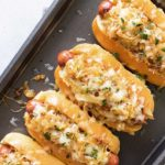 french onion hot dogs