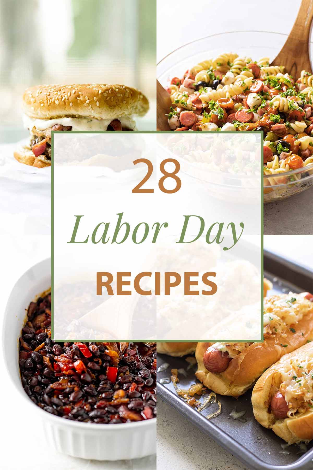 photo collage of labor day recipes