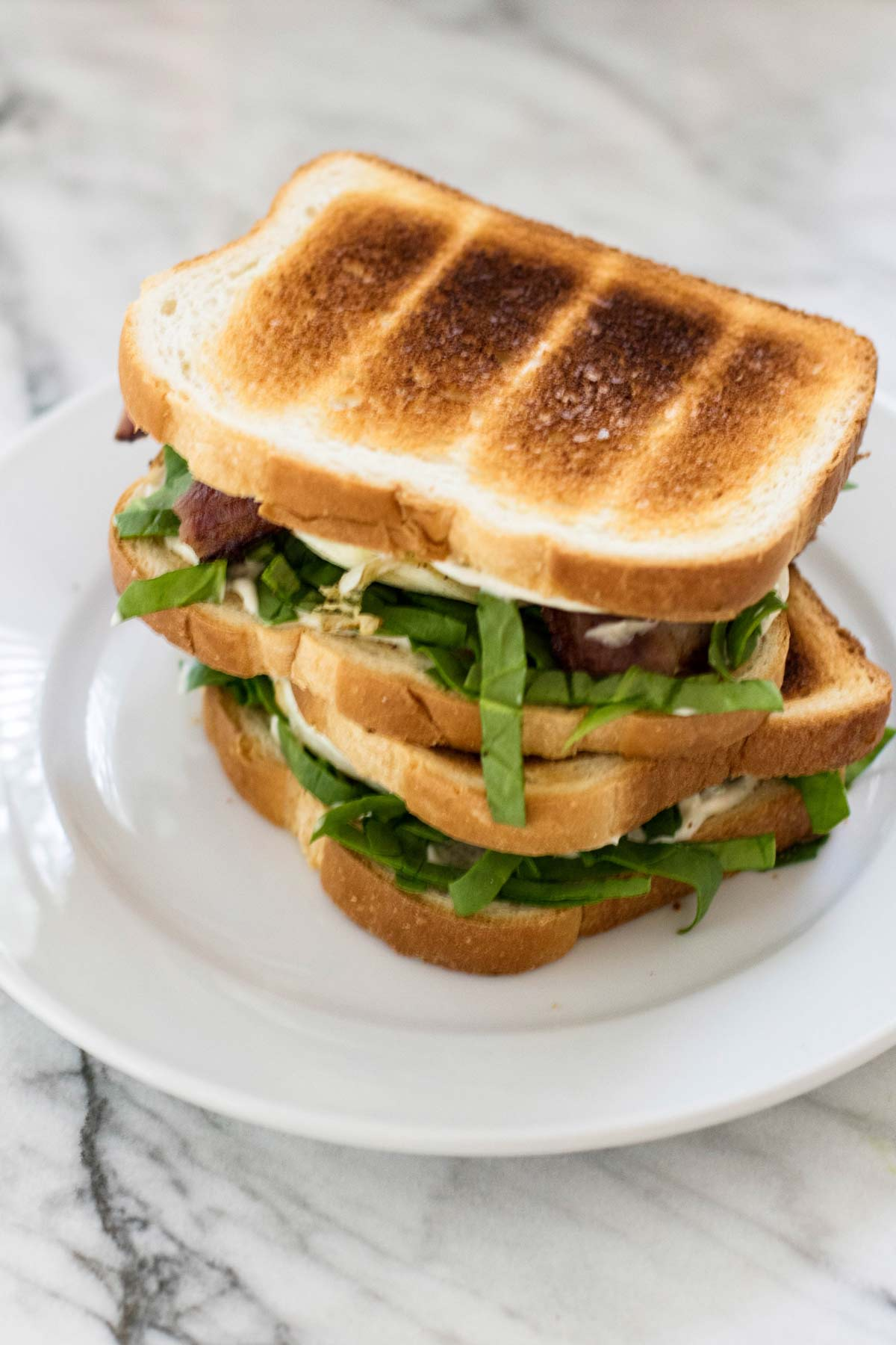two sandwiches stacked on top of each other