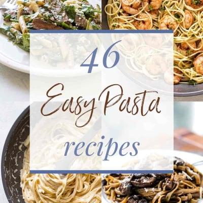 pasta recipes collage