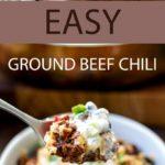 easy ground beef chili