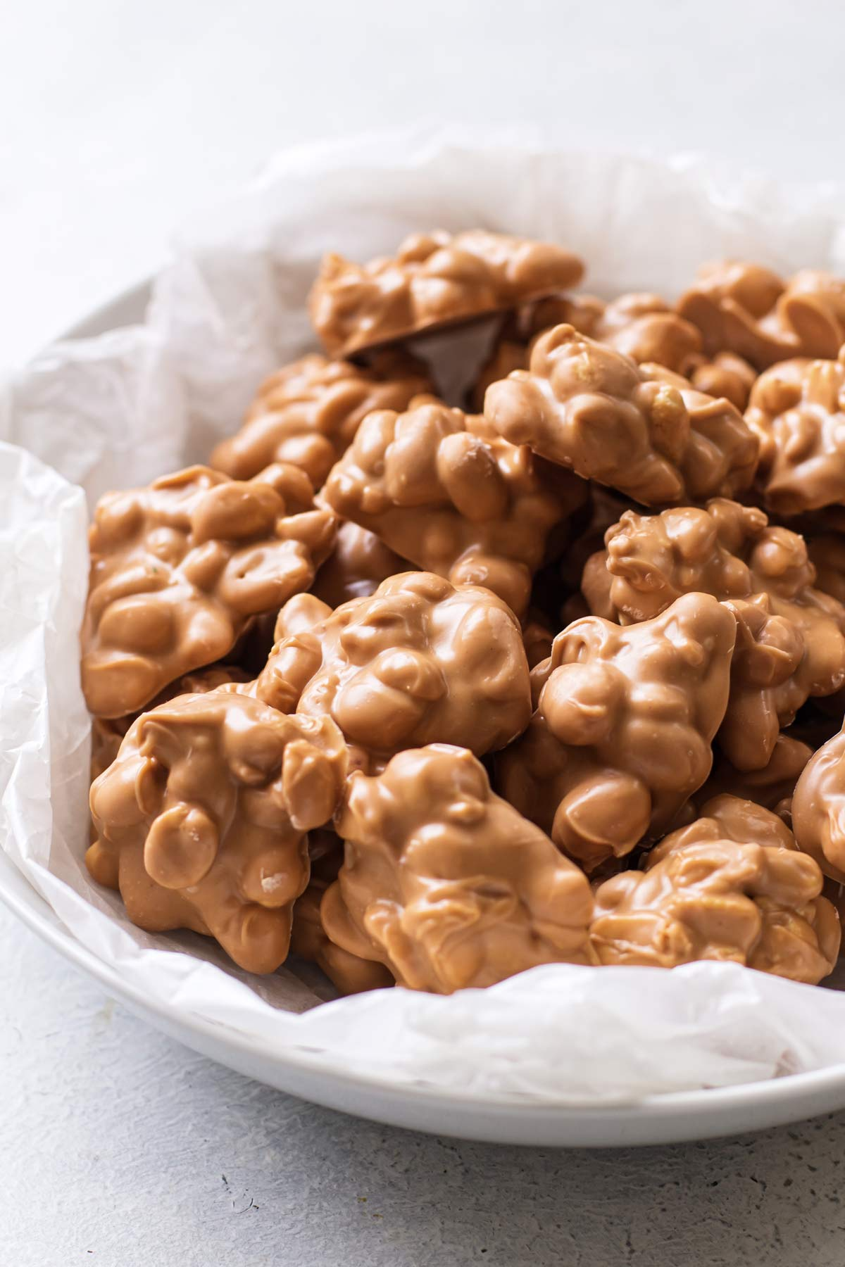 a bowl of nut clusters.