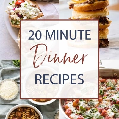 Quick Dinner Recipes Ready in 20 Minutes or Less