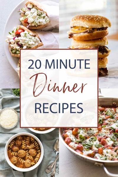 quick dinner recipes photo collage