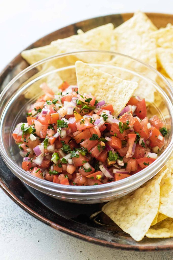 a bowl of pico
