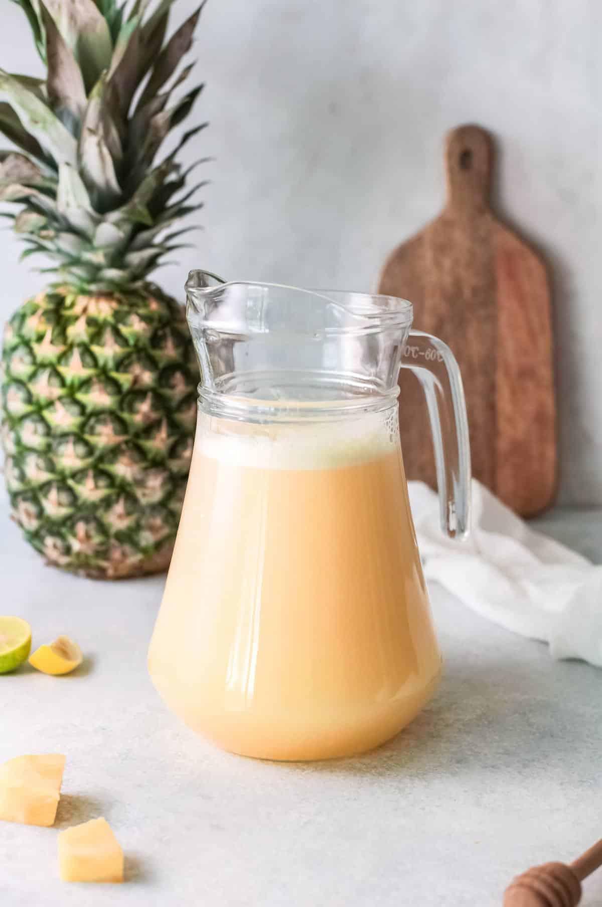 a pitcher of agua fresca.