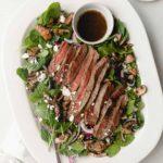 steak salad with mushrooms