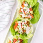 lettuce wraps with text overlay.