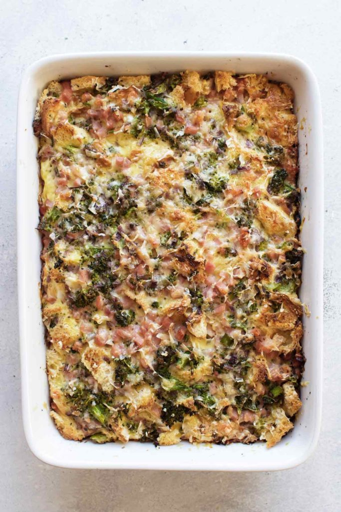 the baked breakfast strata.