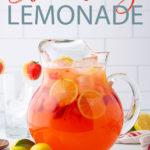 strawberry lemonade pinterest image.