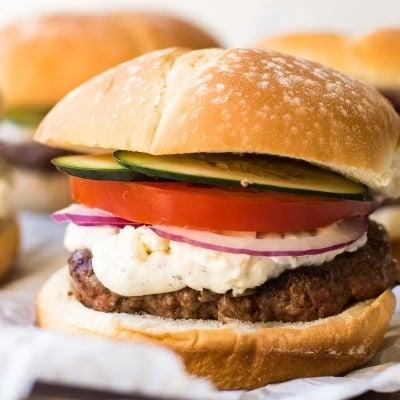 Easy Greek Burgers